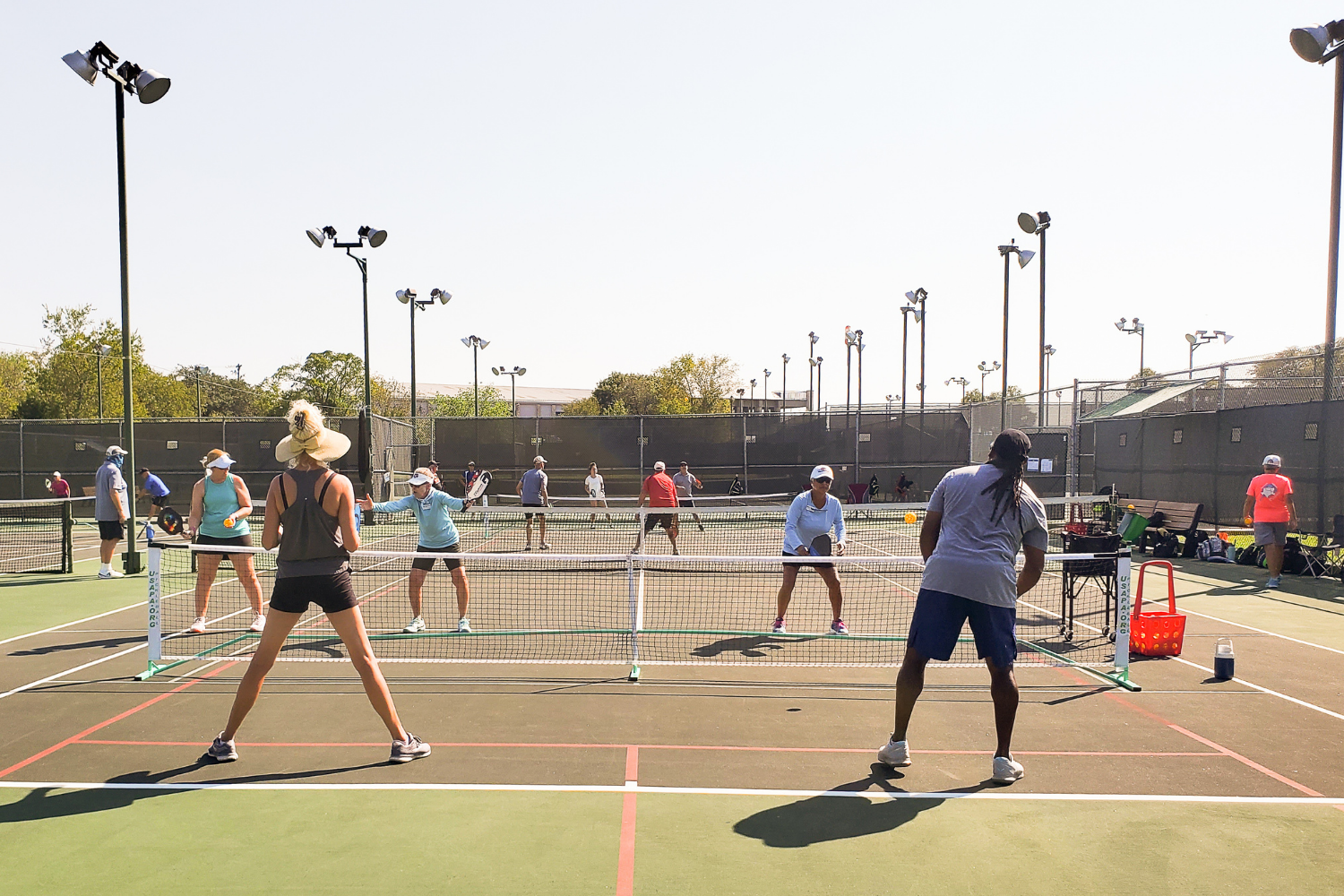 Pickleball game at the Georgetown Tennis Center in Georgetown, TX