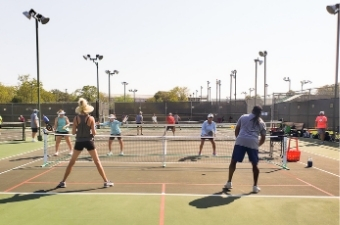Pickleball game at the Georgetown Recreation Center in Georgetown, TX