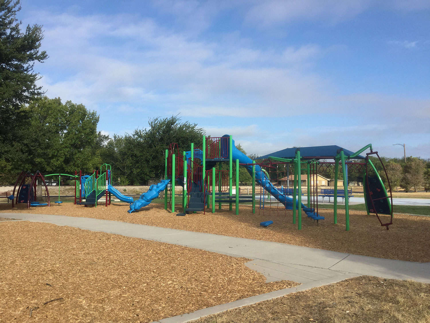 Playscape at San Jose Park in Georgetown, TX