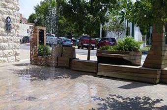 Splash Pad in downtown Georgetown, TX