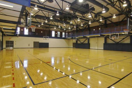 Empty Gymnasium at the Georgetown Recreation Center in Georgetown, TX