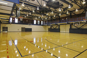 Gymnasium at the Georgetown Recreation Center in Georgetown, TX