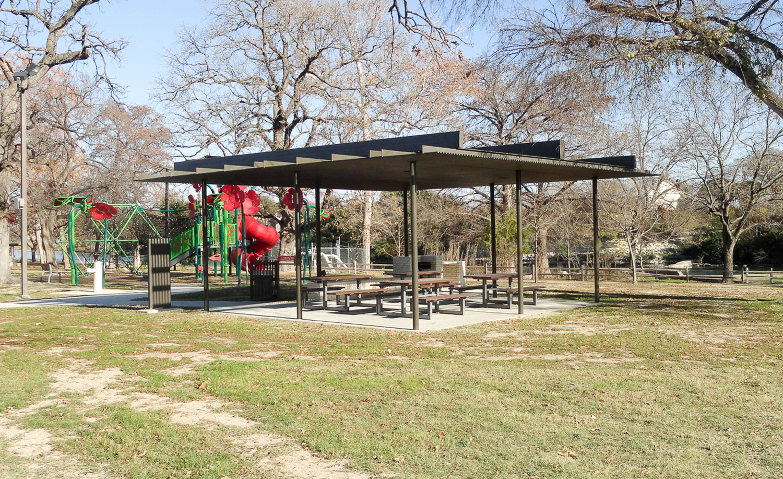 Heron Pavilion in San Gabriel Park