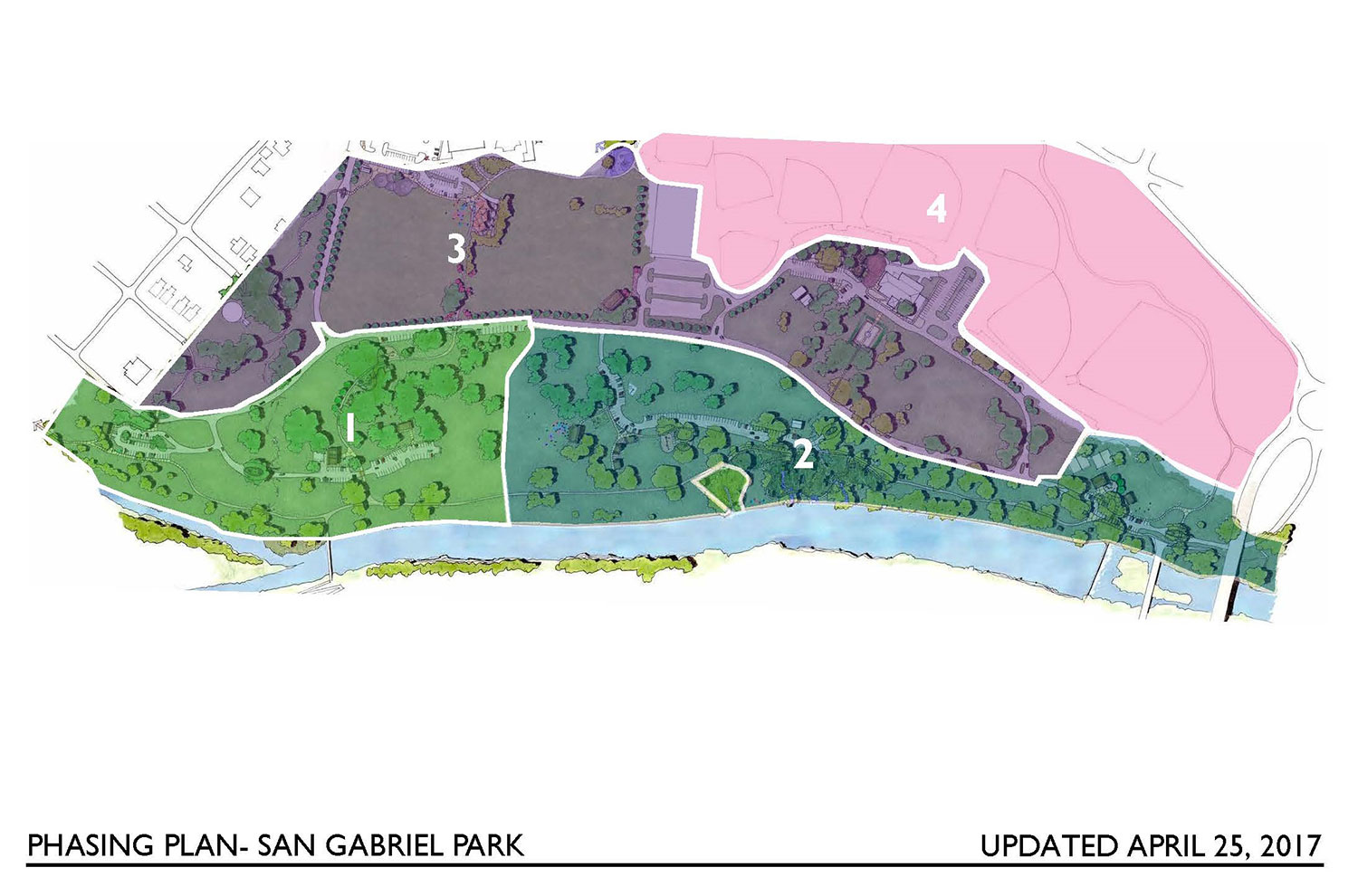 Phasing Plan for San Gabriel Park in Georgetown, TX