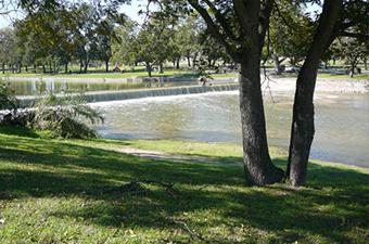 The San Gabriel River in San Gabriel Park in Georgetown, TX