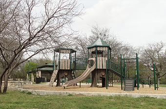 Playscape in Rivery Park in Georgetown, TX