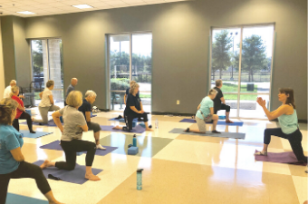 Balance and Stretch fitness class at the Georgeetown Recreation Center