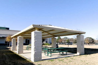 Courtyard Pavilion at the Georgetown Recreation Center in Georgetown, TX