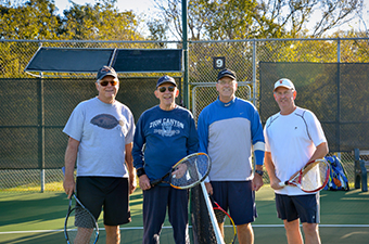 Men playing tennis at the Georgetown Tennis Center in Georgetown, TX