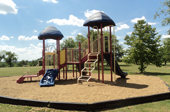 Playscape in Pinnacle Park in Georgetown, TX