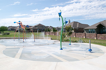 Rabbit Hill Park Splash Pad in Georgetown, TX