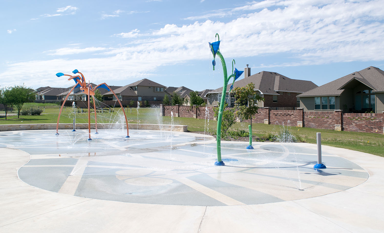 Splash Pad at Rabbit Hill Park in Georgetown, TX