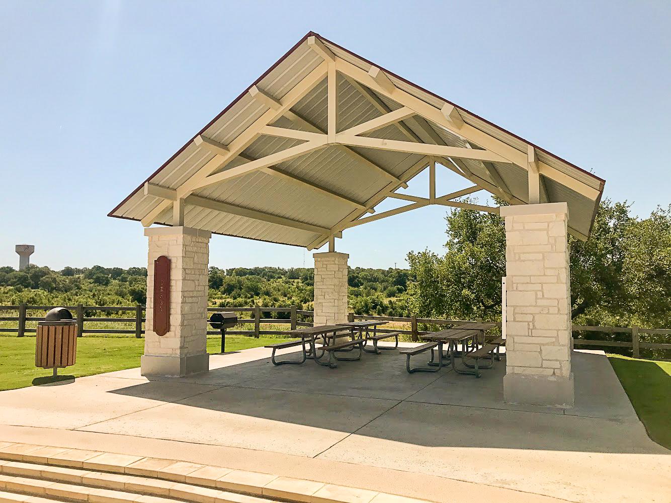 The Derby Pavilion at Garey Park in Georgetown, TX