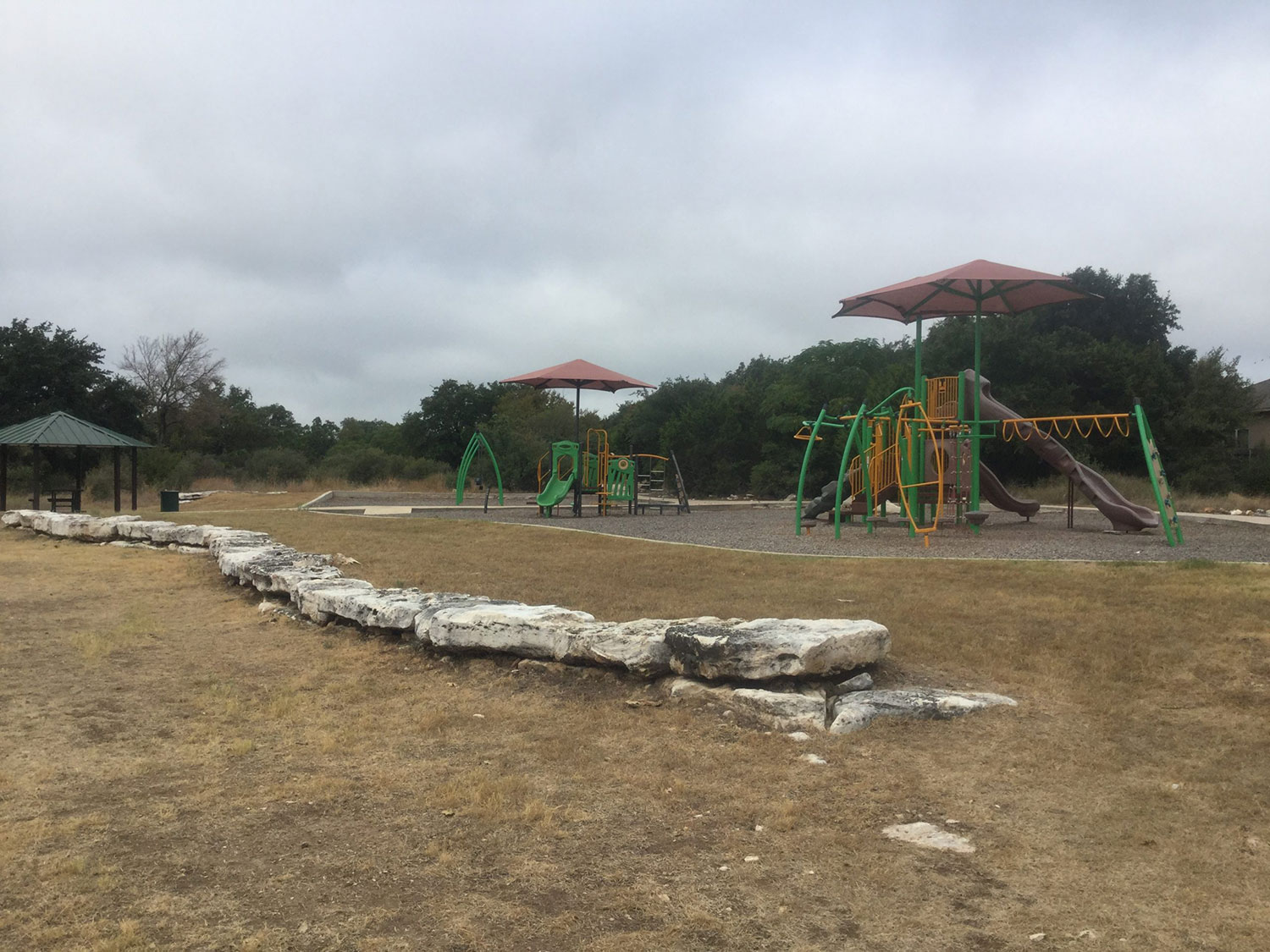 Playscape at Emerald Springs Park in Georgetown, TX