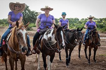 Equestrian riders at Garey Park in Georgetown, TX