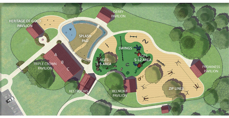 Map of pavilions and Play Ranch at Garey Park