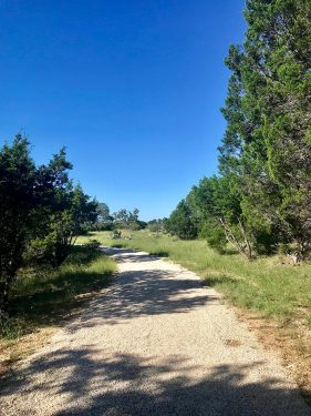 Hiking trail at Garey Park in Georgetown, TX