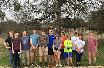 Group of volunteers at Garey Park in Georgetown, TX