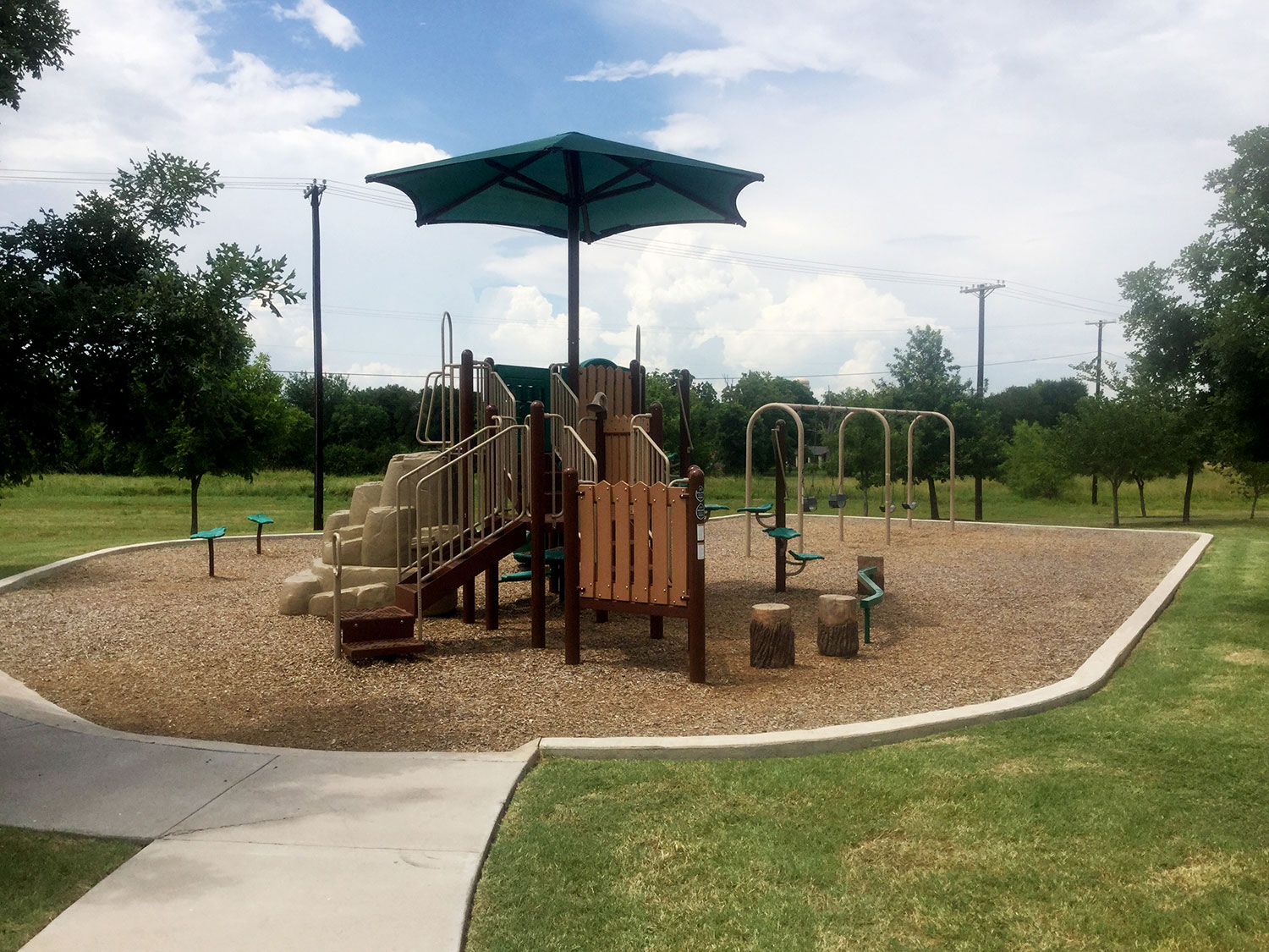 Playscape at Geneva Park in Georgetown, TX