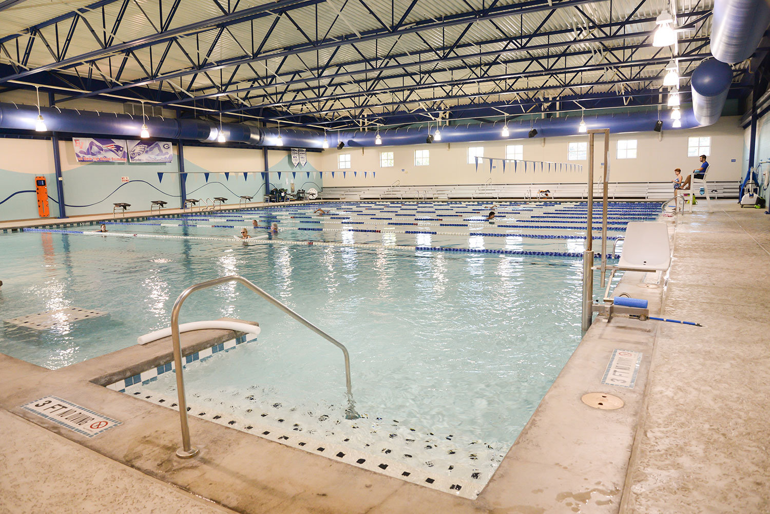 Empty indoor pool at the Georgetown Recreation Center