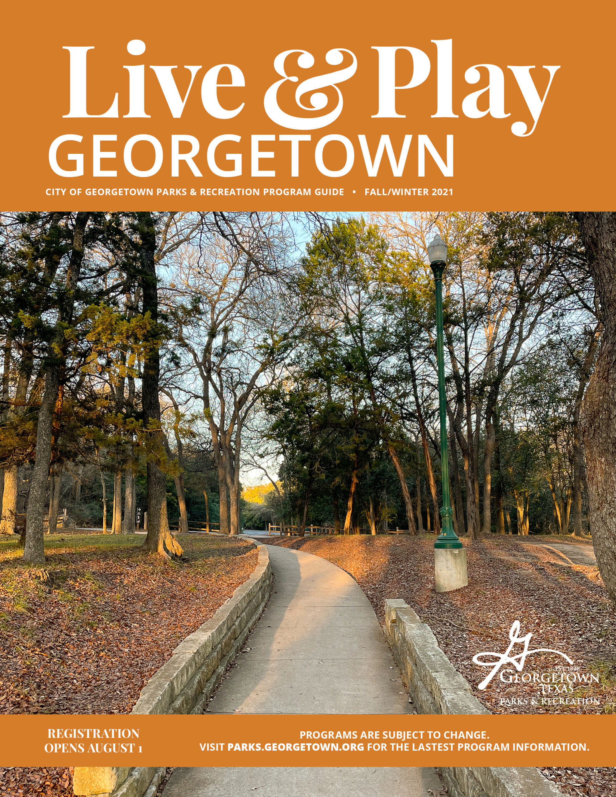 Live &  Play Georgetown Fall Winter 2021