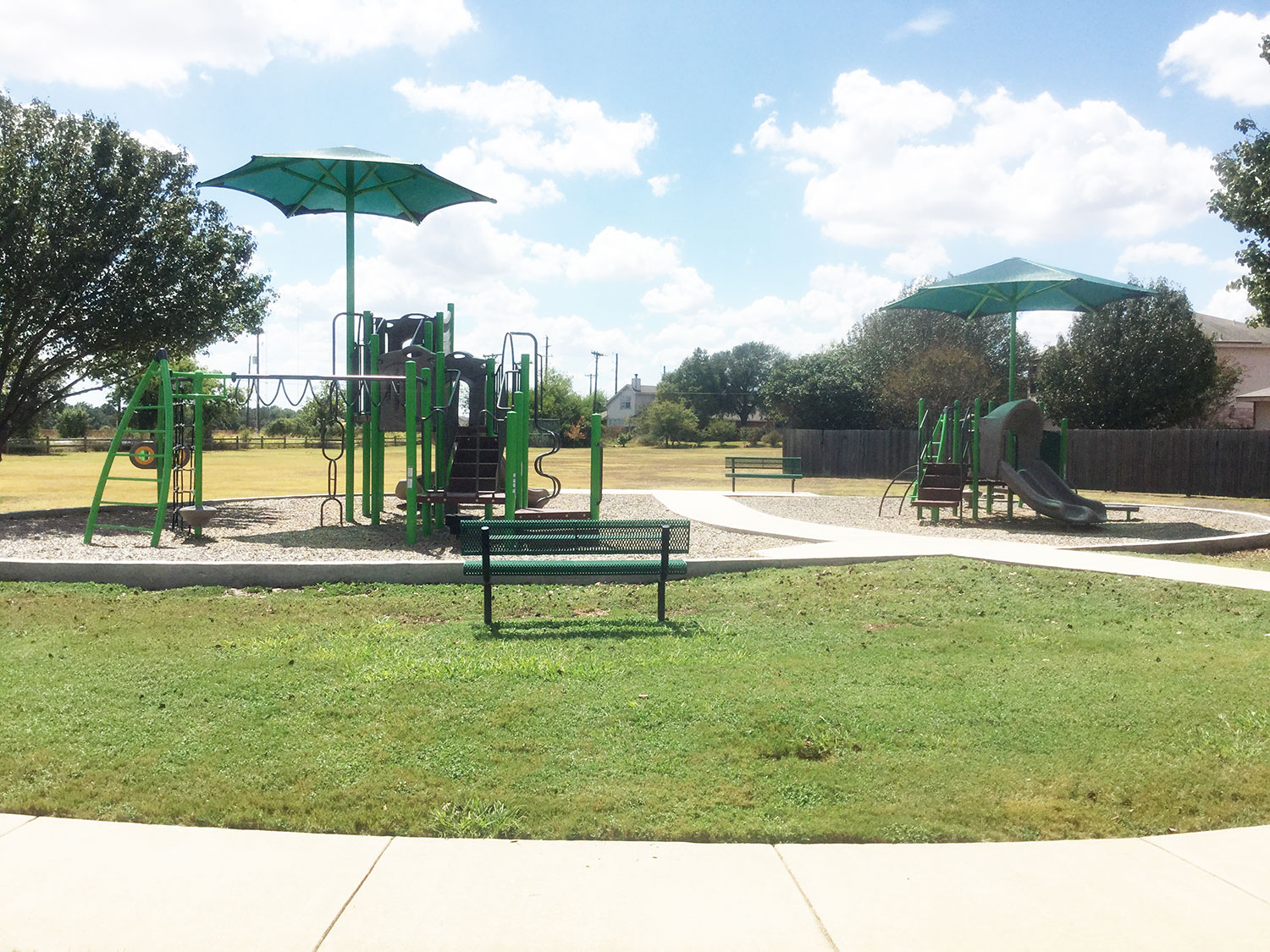 Playscape at Meadows Park in Georgetown, TX