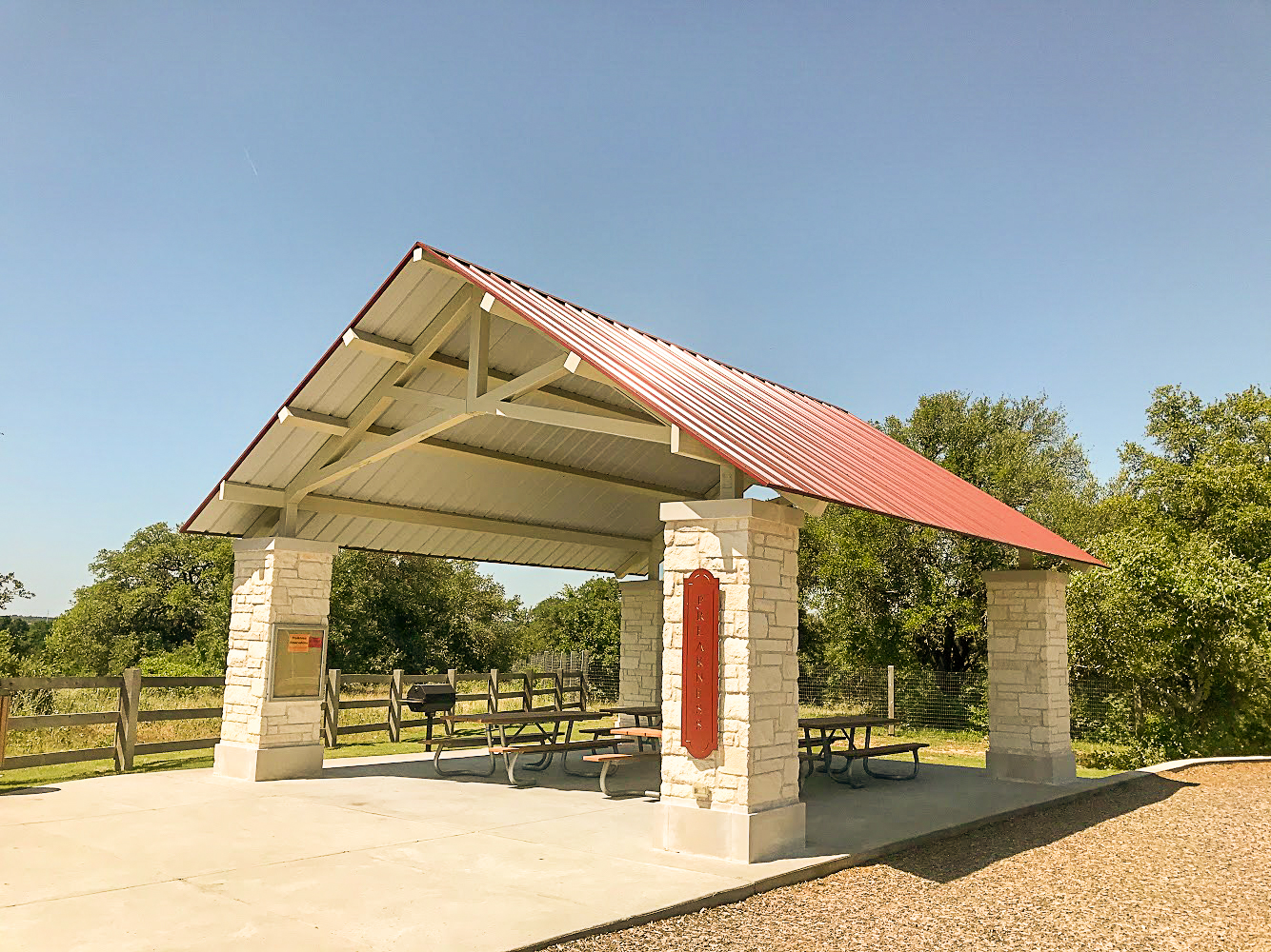 The Preakness Pavilion at Garey Park in Georgetown, TX