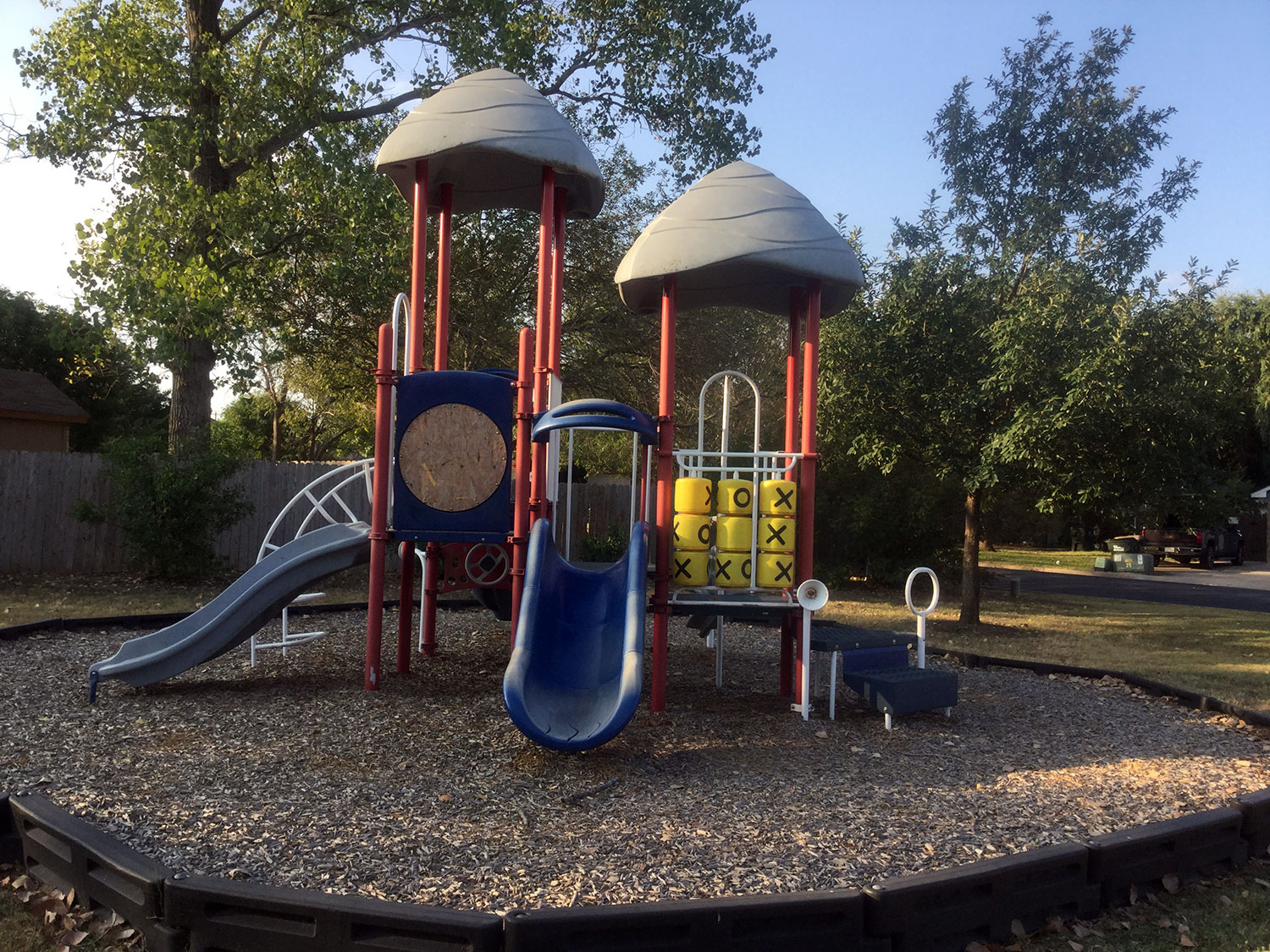 Playscape at Raintree Park in Georgetown, TX