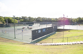 Tennis courts at the Georgetown Tennis Center in Georgetown, TX