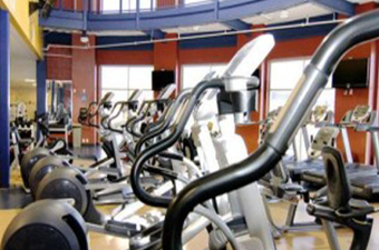 Exercise equipment at the Georgetown Recreation Center.