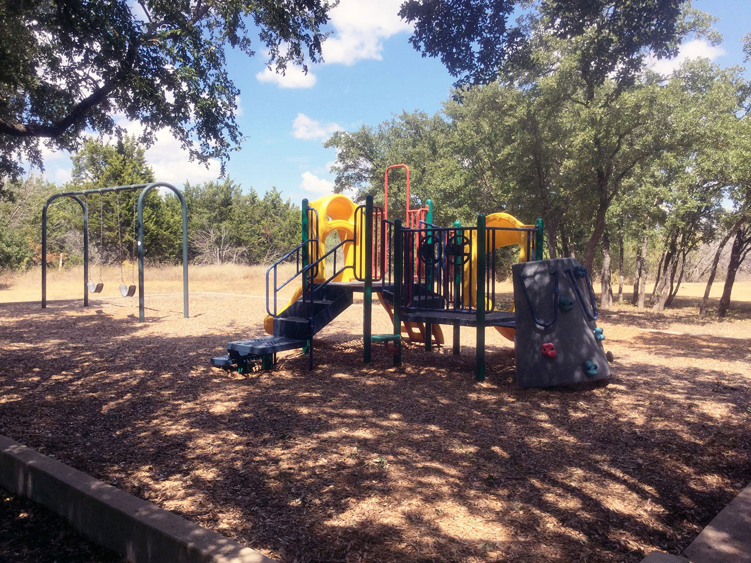 Playscape at Windridge Park in Georgetown, TX
