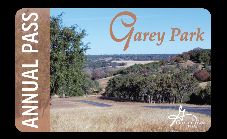 Gary Park annual pass card