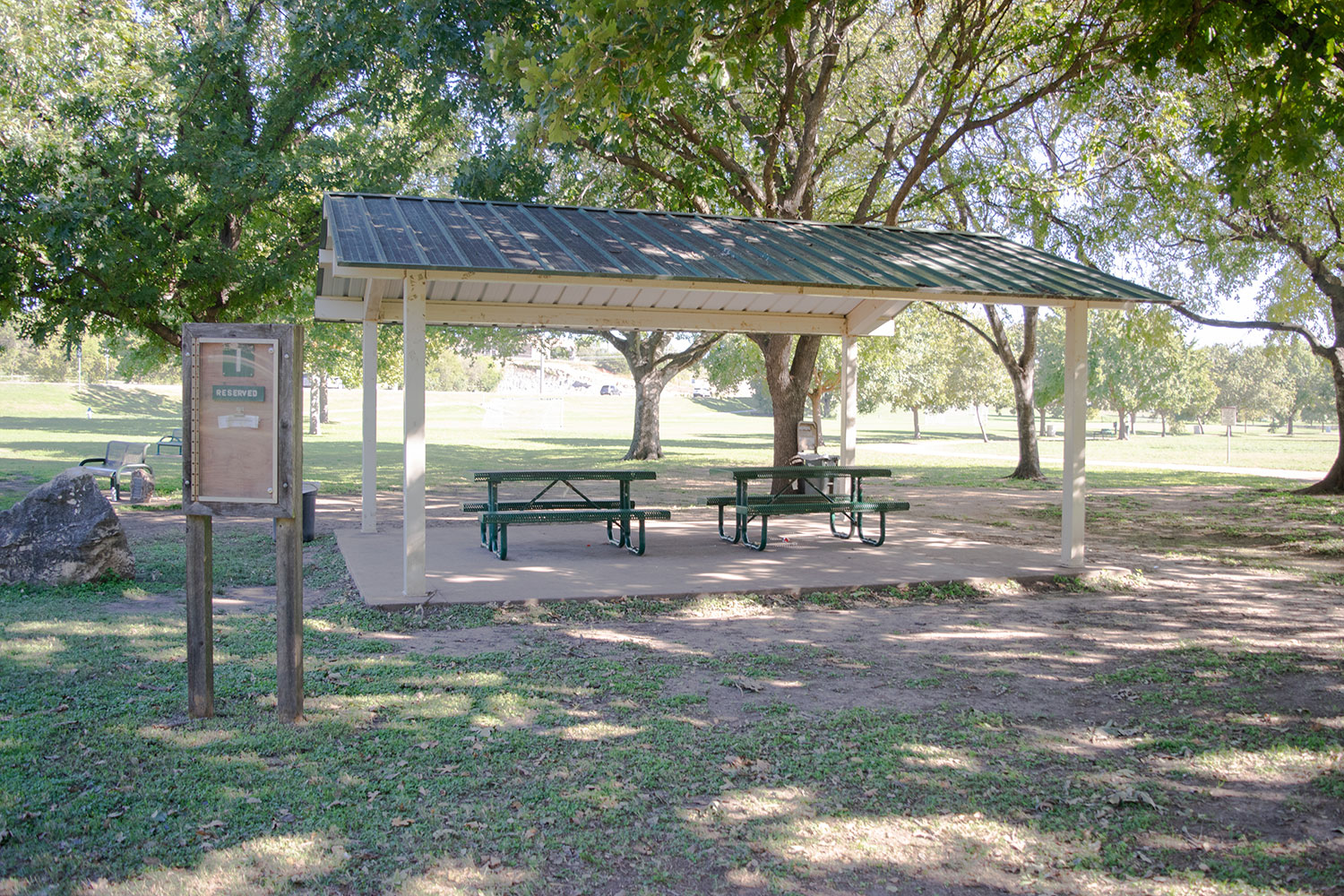 Area I Pavilion at the San Gabriel Park in Georgetown, TX