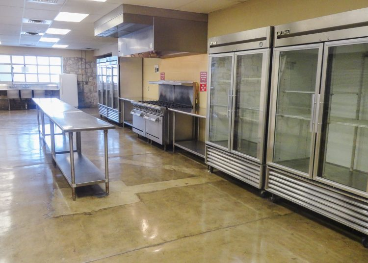 East side view of the kitchen at the Georgetown Community Center in Georgetown, TX