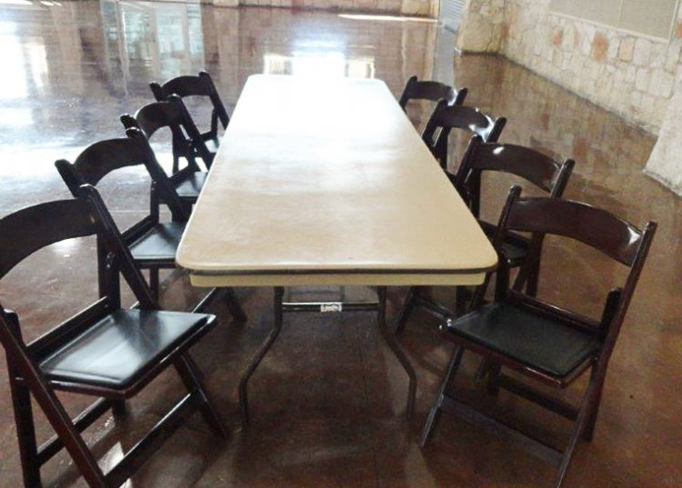 Table and Chairs at the Georgetown Community Center in Georgetown, TX