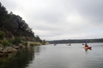 Seniors Kayaking at Belton Lake in Belton, TX