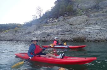 Seniors Kayaking at Lake Georgetown