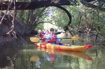 Seniors Kayaking at Willis Creek