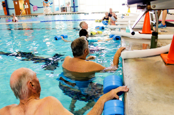 Water Aerobics class at the Georgetown Recreation Center