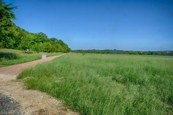 empty trail at Garey Park in Georgetown, TX